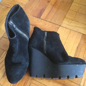 Cheap Monday Tall Platform Suede Boots Booties!